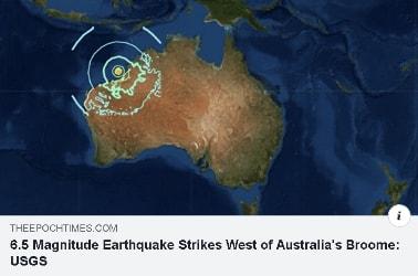 Australia quake