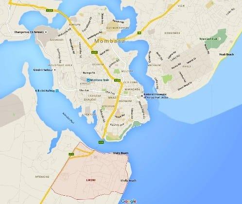 Likoni map