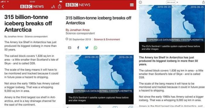 BBC Iceberg images