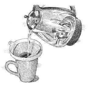 Pour Just Boiling Water Into The Funnel And Let Coffee Brew Mug