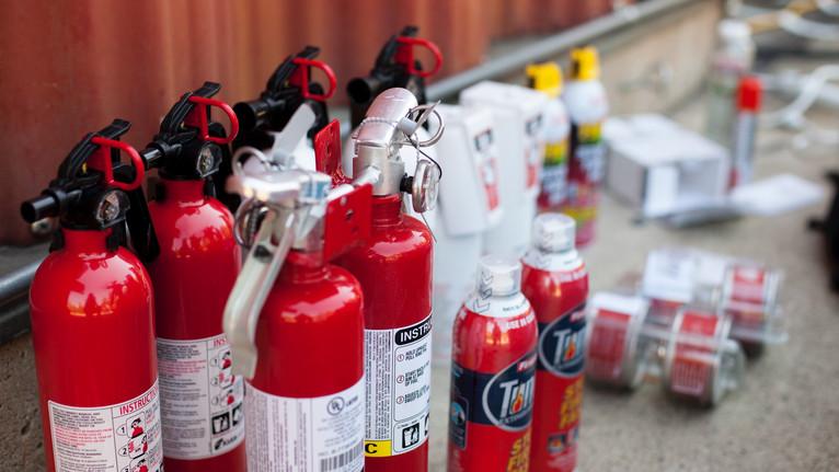 testing fire extinguishers