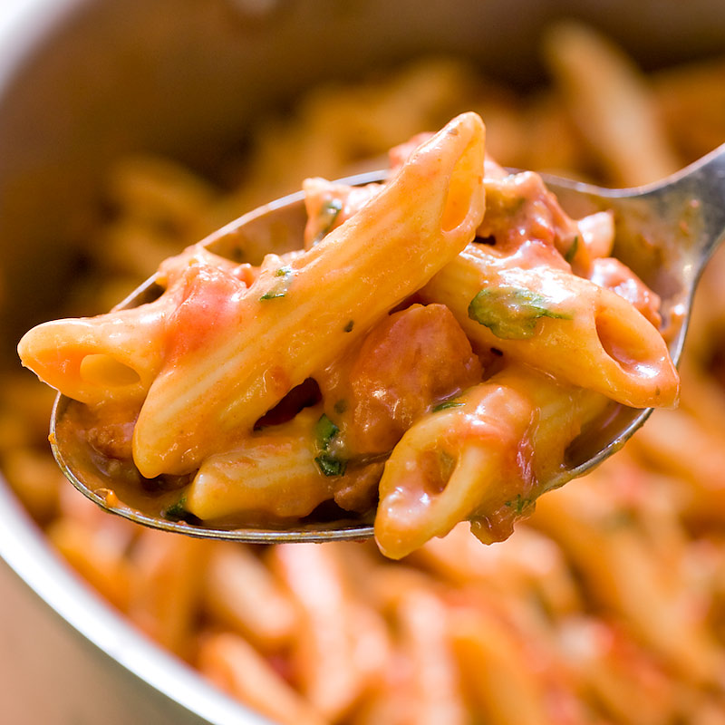 Pasta With Creamy Tomato Sauce Cook S Illustrated