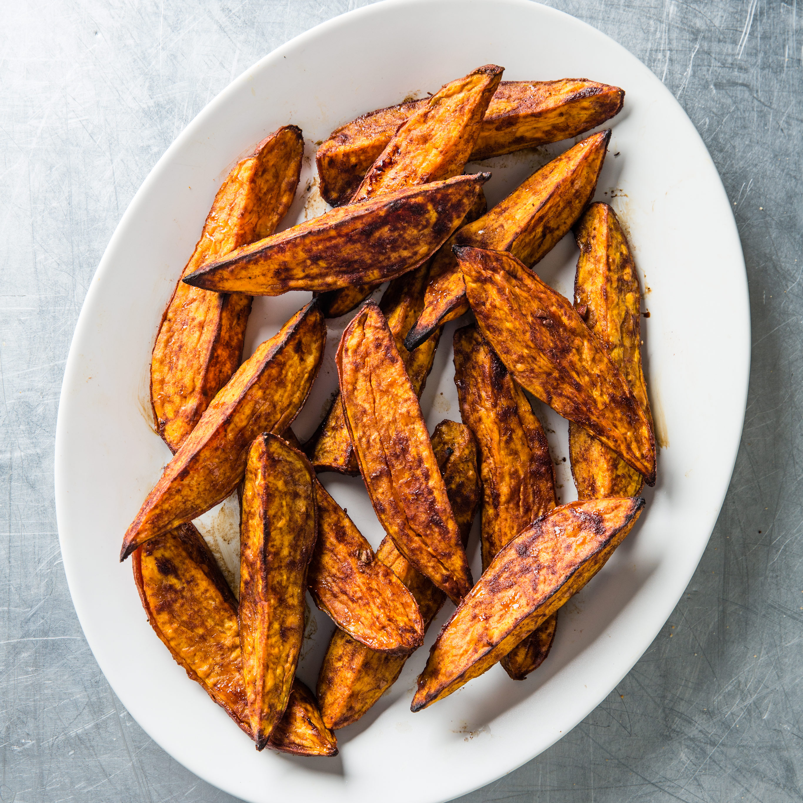 Cinnamon Sugar Roasted Sweet Potato Wedges Cook S Country