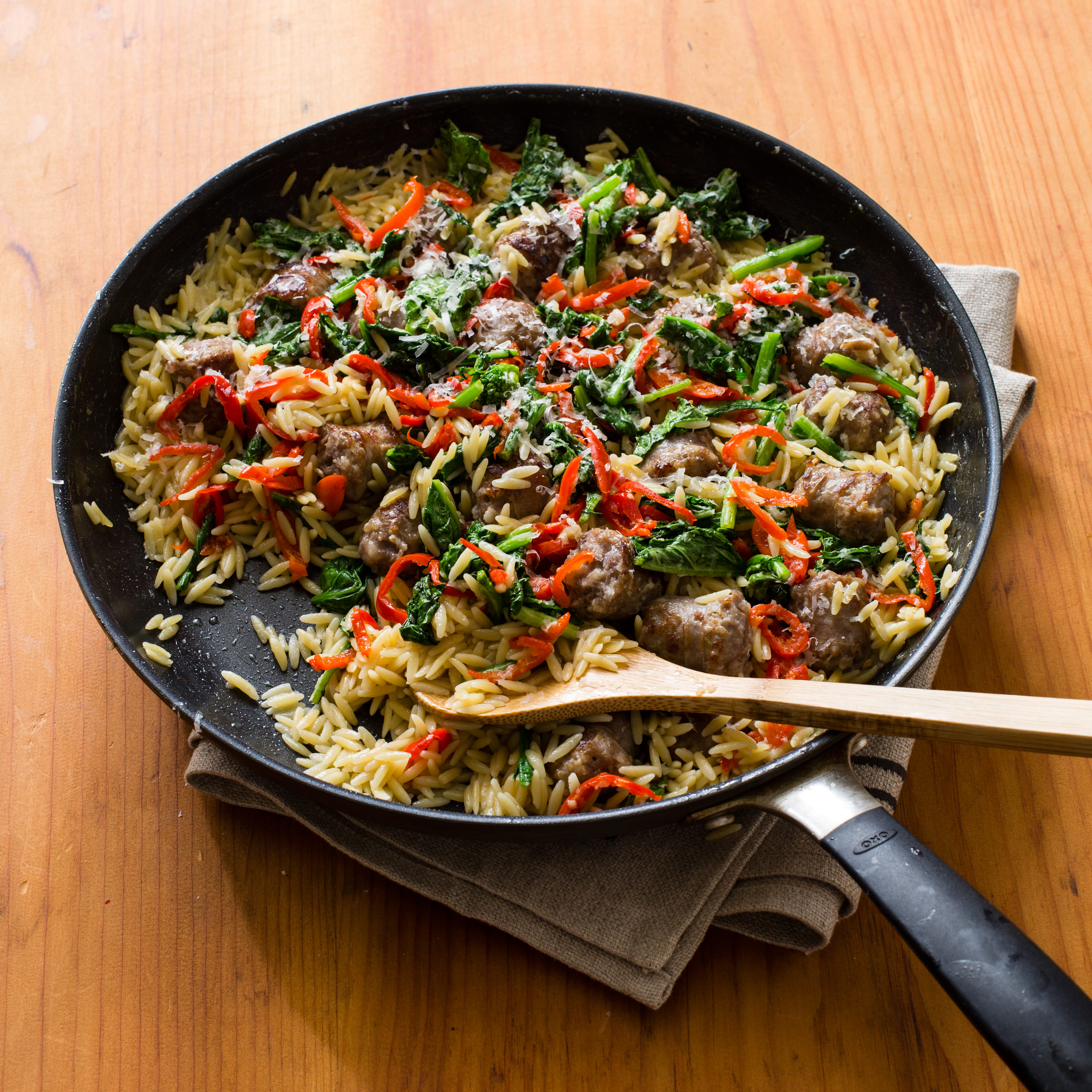 Orzo With Sausage And Broccoli Rabe Cook S Country
