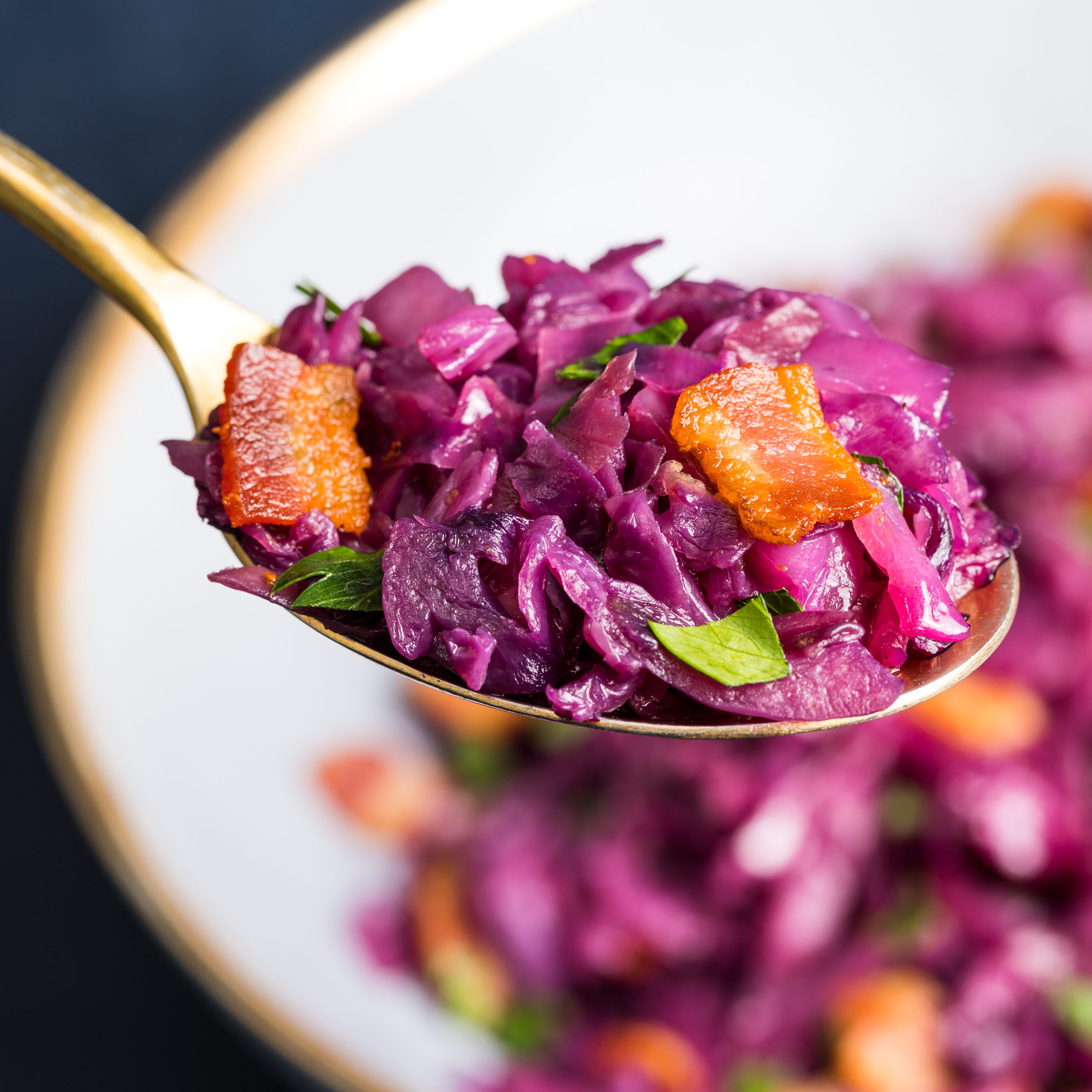 Braised Red Cabbage With Apple Bacon And Shallots Cook S Illustrated