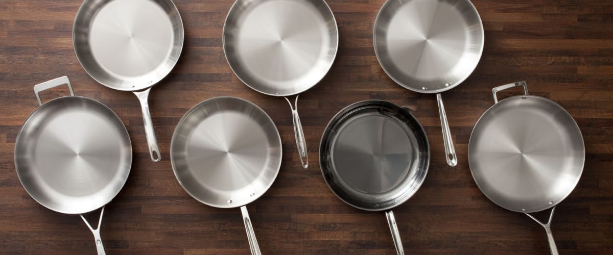 Testing 12 Inch Stainless Steel Skillets Cook S Illustrated