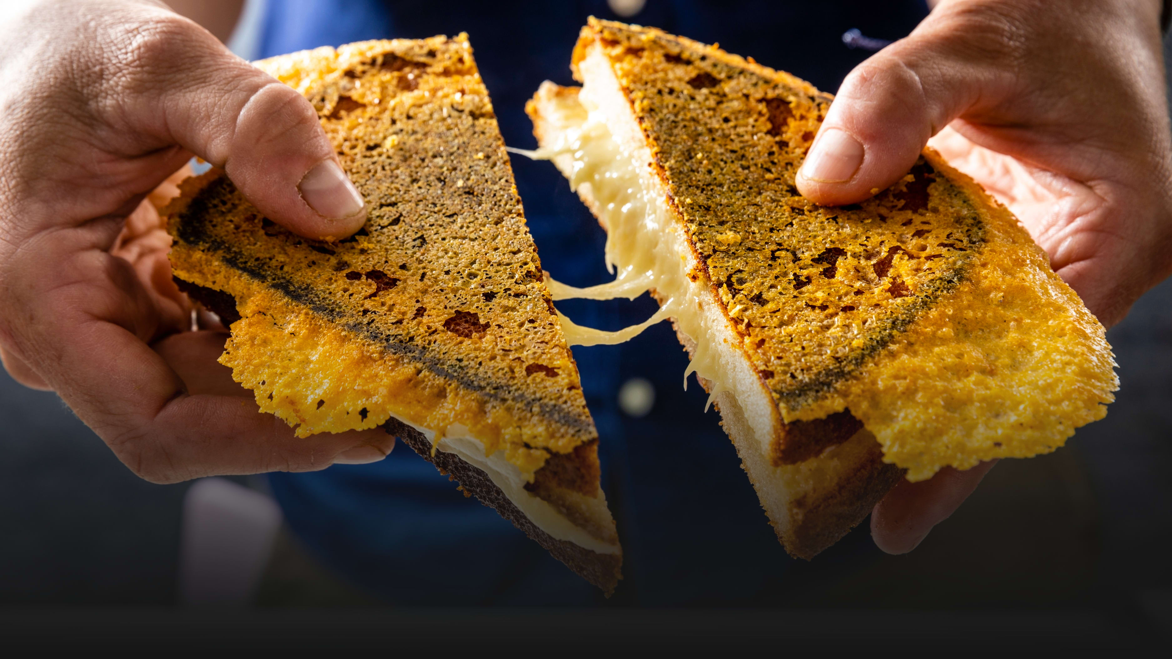Your Grilled Cheese Needs a Cheddar Hat