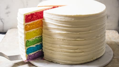 How To Make Rainbow Layer Cake