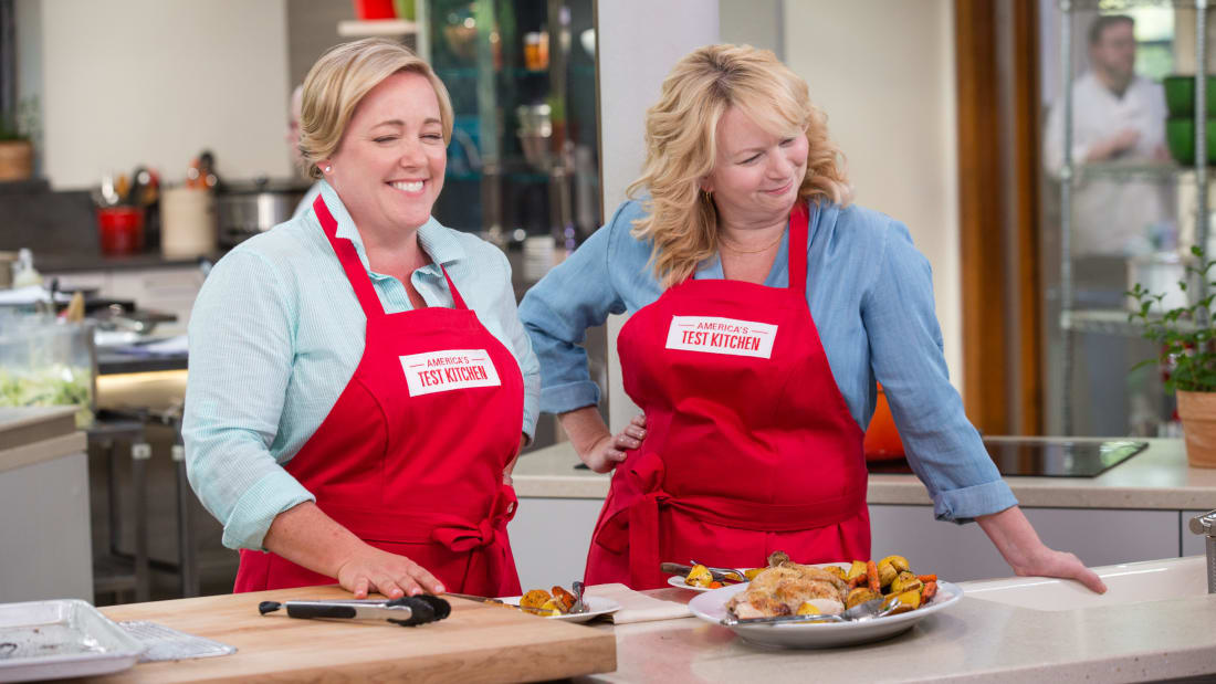 Julia And Bridget Laugh It Up While Filming The 2017 Season Of America S Test Kitchen