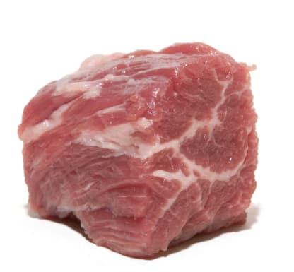 Marbling in a steak tip.