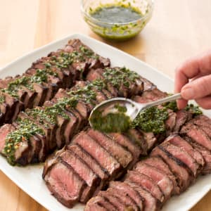 Charcoal grilled argentine steaks with chimichurri sauce cooks charcoal grilled argentine steaks with chimichurri sauce cooks illustrated forumfinder Image collections