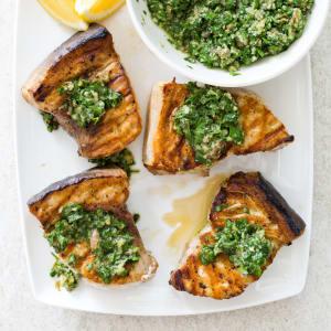 Swordfish Steak Cooked