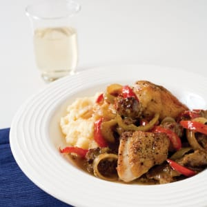 Spicy italian style chicken with sausage peppers and onions ingredients forumfinder Gallery