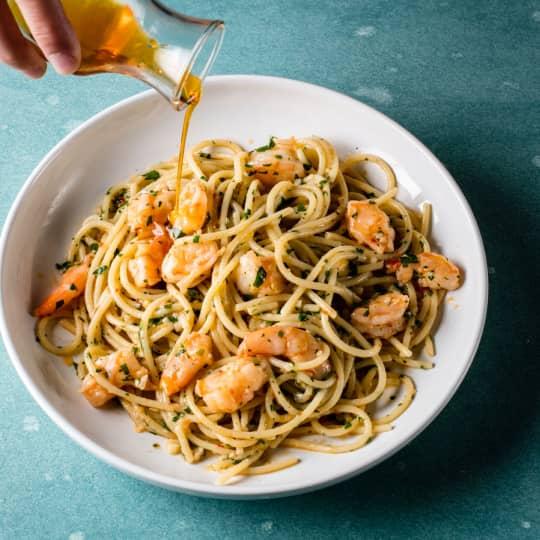 Spaghetti Aglio e Olio with Shrimp | Cook's Illustrated
