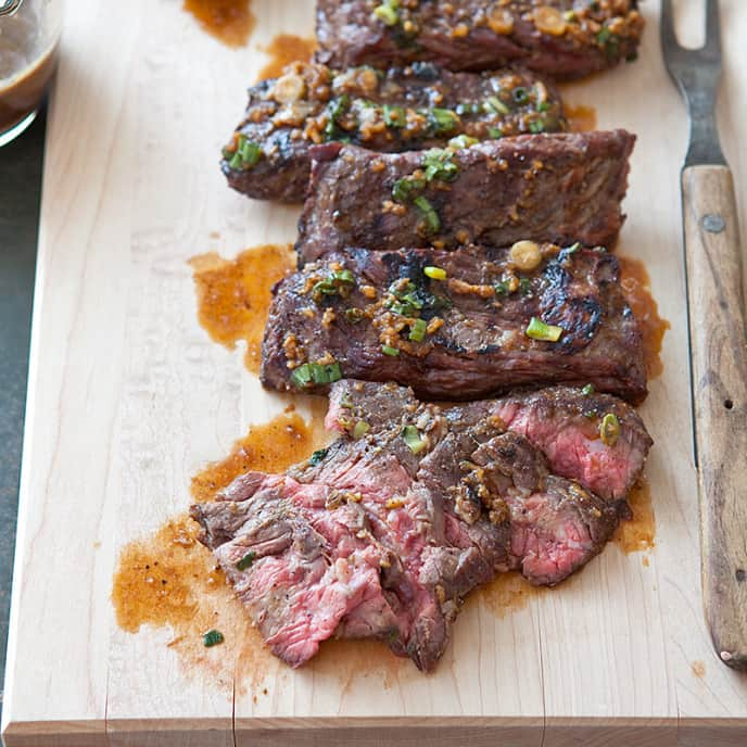 Grilled Thai Curry Marinated Skirt Steak