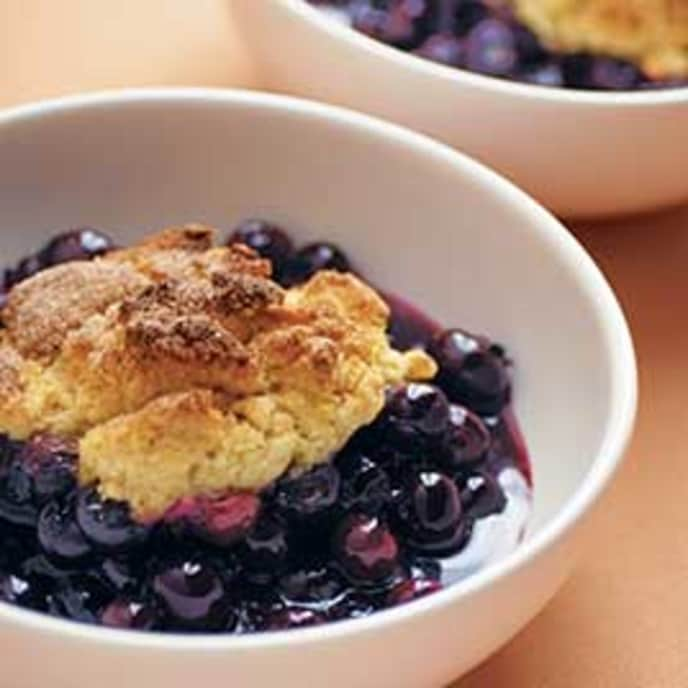 All-Season Blueberry Cobbler with Frozen Blueberries