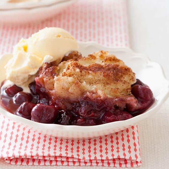 Slow-Cooker Cherry Grunt