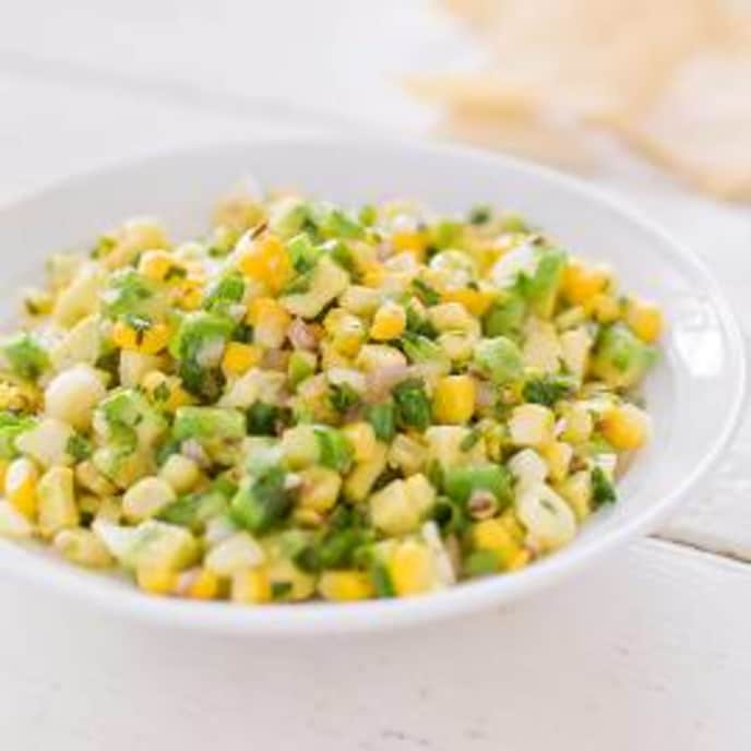 Fresh Corn Salsa with Avocado and Toasted Cumin