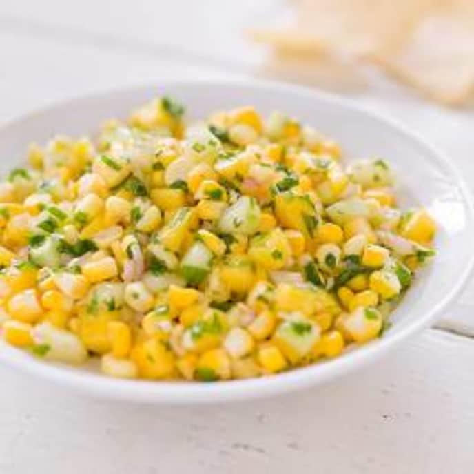 Fresh Corn Salsa with Mango and Cucumber