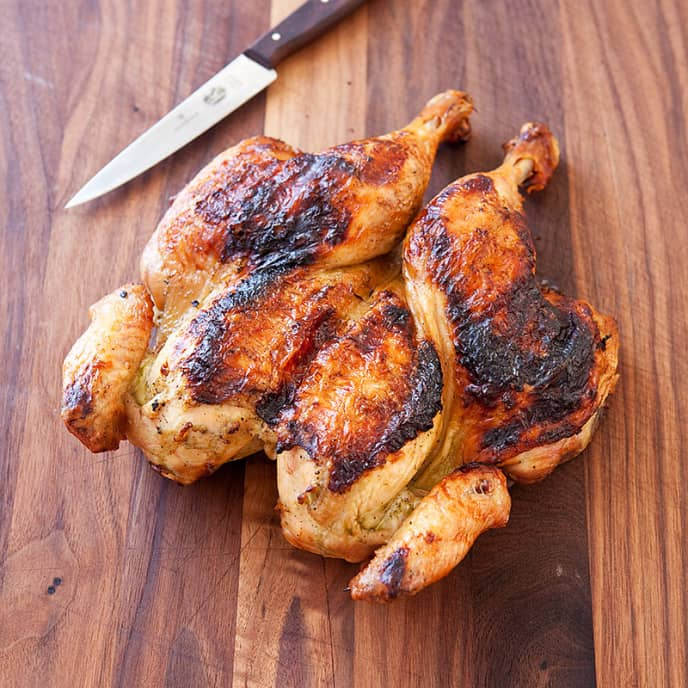 Grilled Wine-and-Herb Marinated Chicken