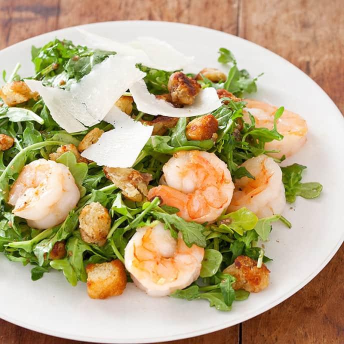 Shrimp and Arugula Salad with Lemon Vinaigrette