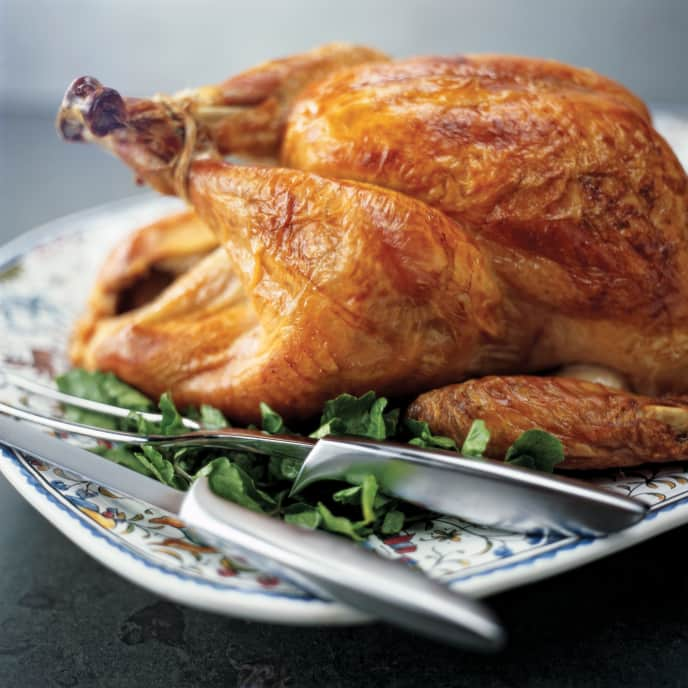 Roast Stuffed Crisped-Skin Turkey