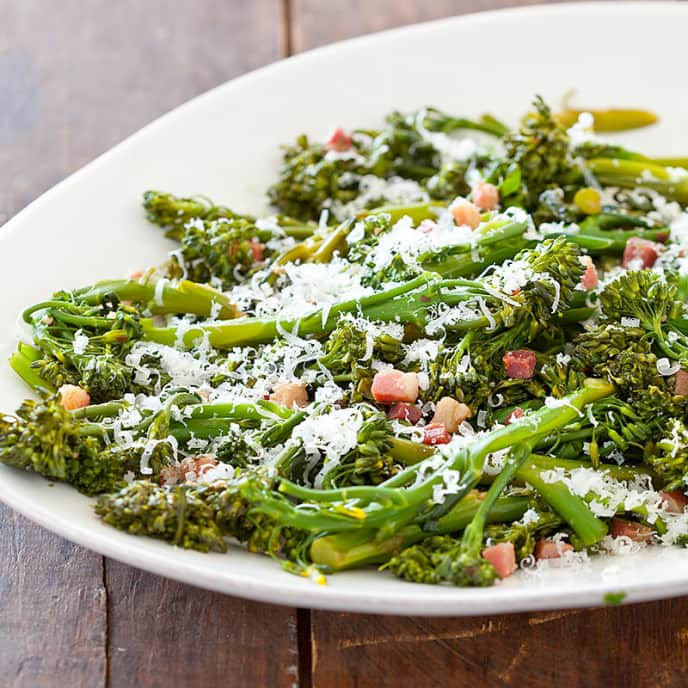 Broccolini with Pancetta and Parmesan