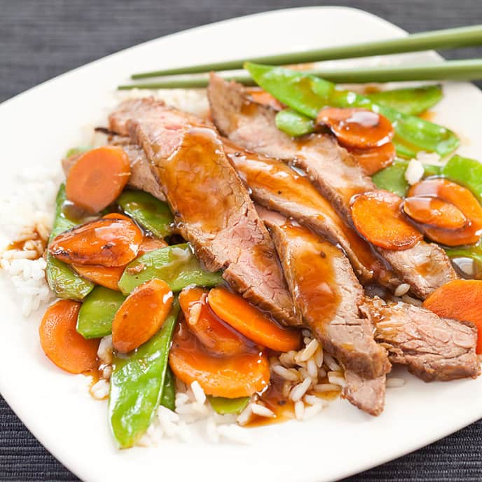 Skillet Teriyaki Beef and Vegetables