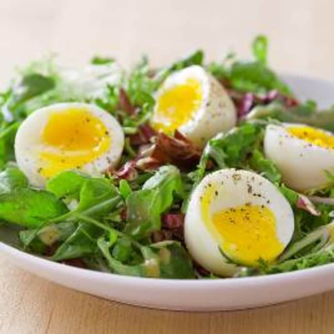 Soft-Cooked Eggs with Salad
