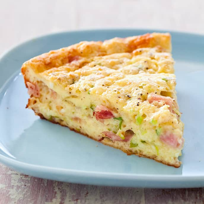 """Impossible"" Ham-and-Cheese Pie"