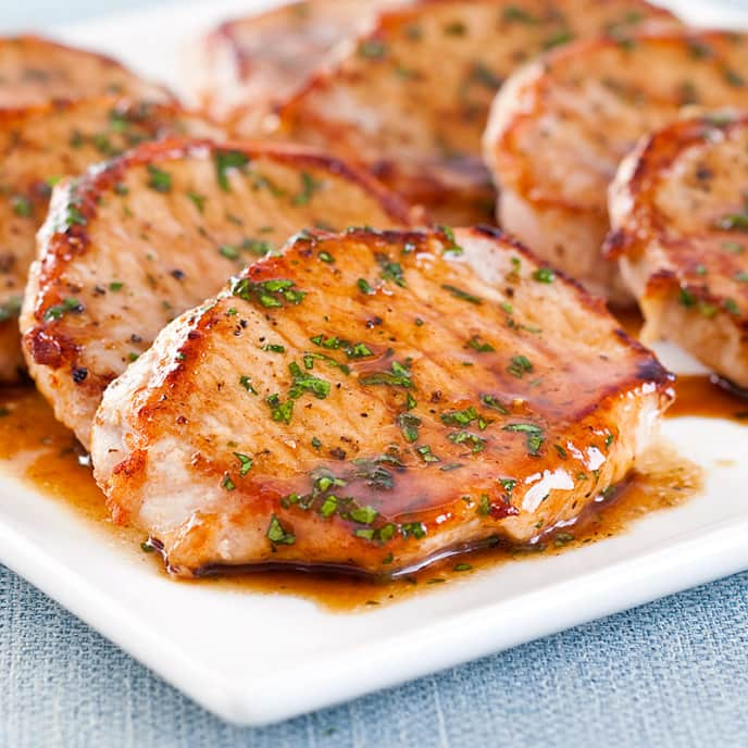 Balsamic-Glazed Pork Cutlets