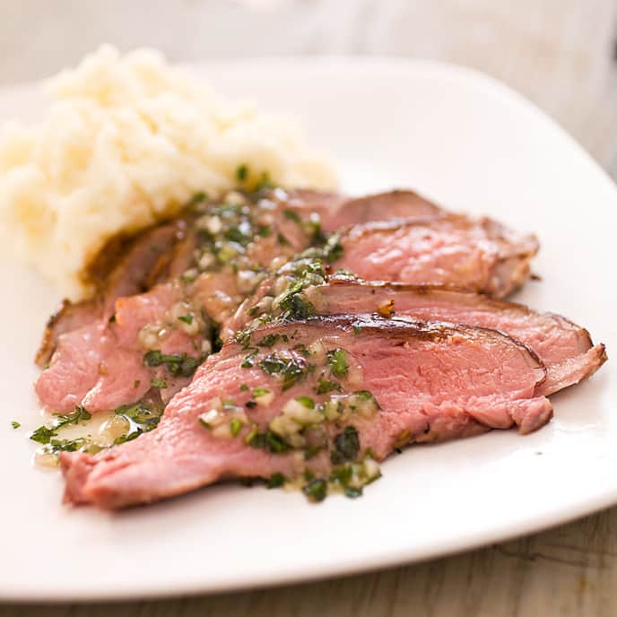 Roast Butterflied Leg of Lamb with Coriander, Fennel, and Black Pepper