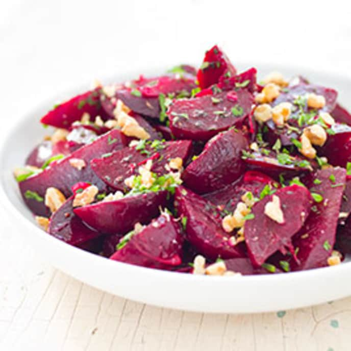 Beets with Orange and Walnuts