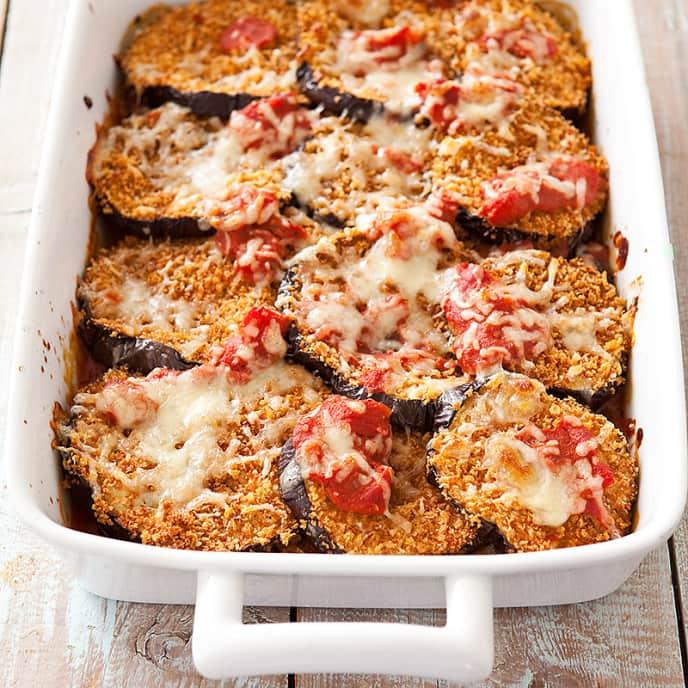 Reduced-Fat Eggplant Parmesan