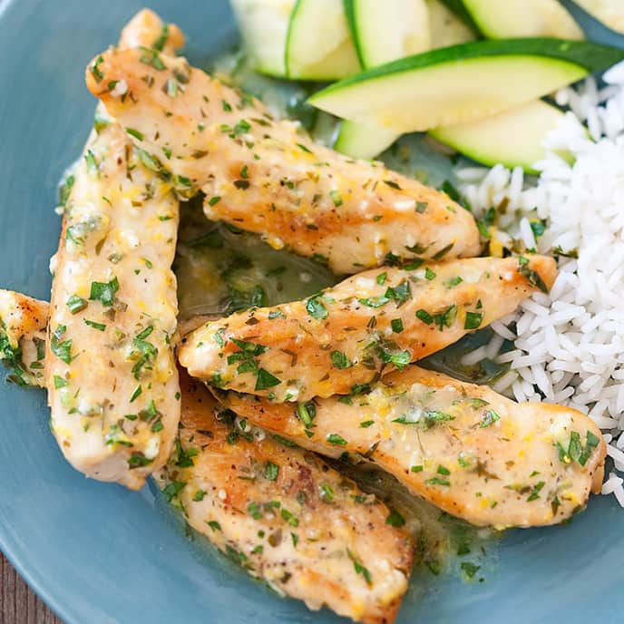 Skillet Citrus Chicken Tenders