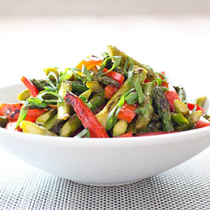 Stir-Fried Asparagus with Red Bell Pepper