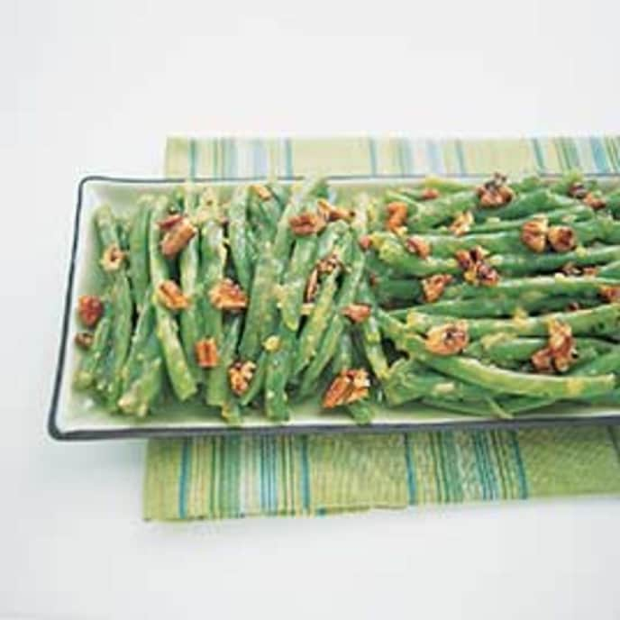 Garlic-Lemon Green Beans with Toasted Bread Crumbs