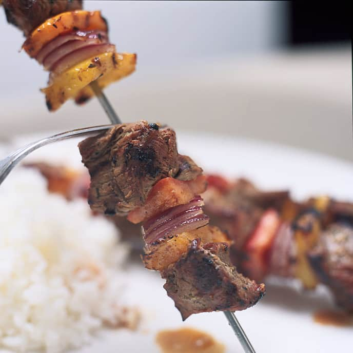 Gas-Grilled Shish Kebab