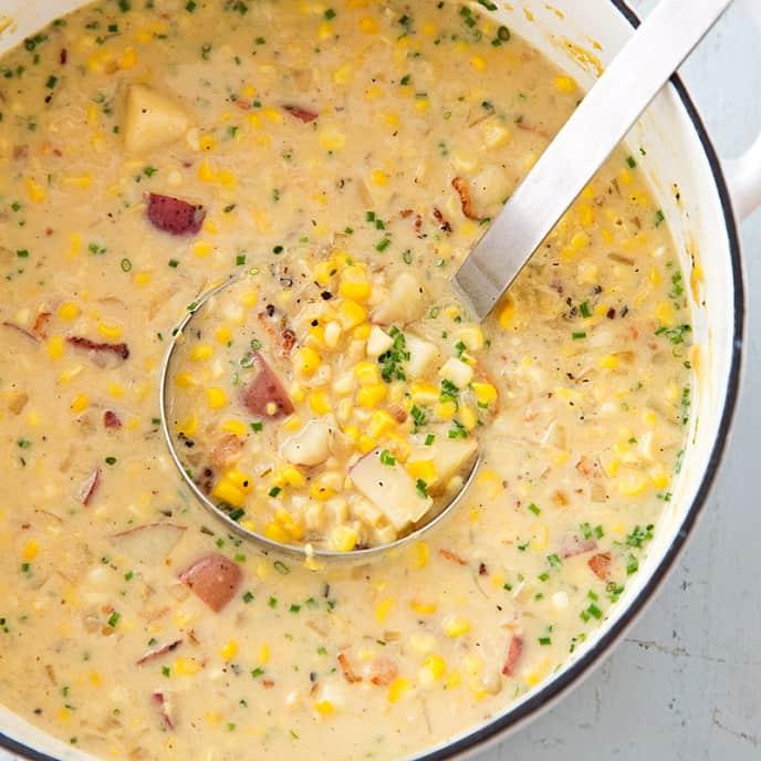 Reduced-Fat Corn Chowder