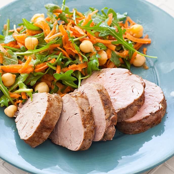 Roast Pork Tenderloin with Carrot Salad