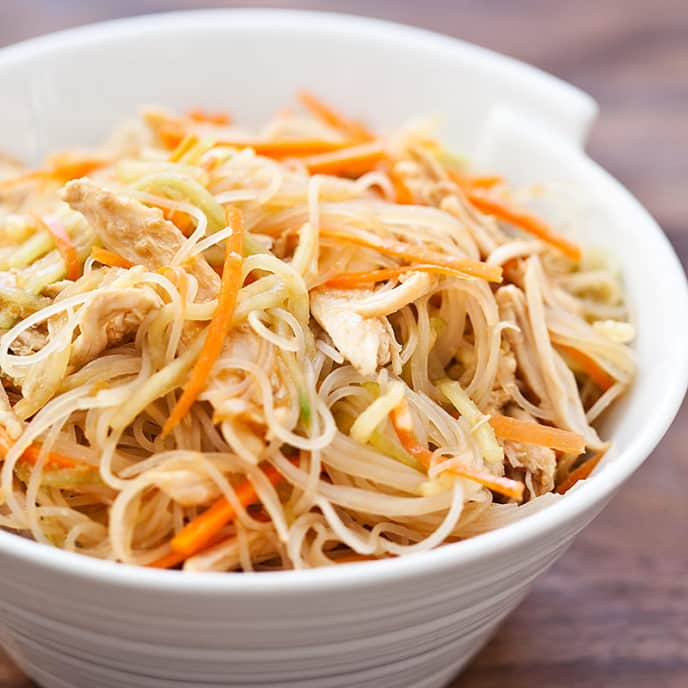 Asian Chicken and Cellophane Noodle Salad