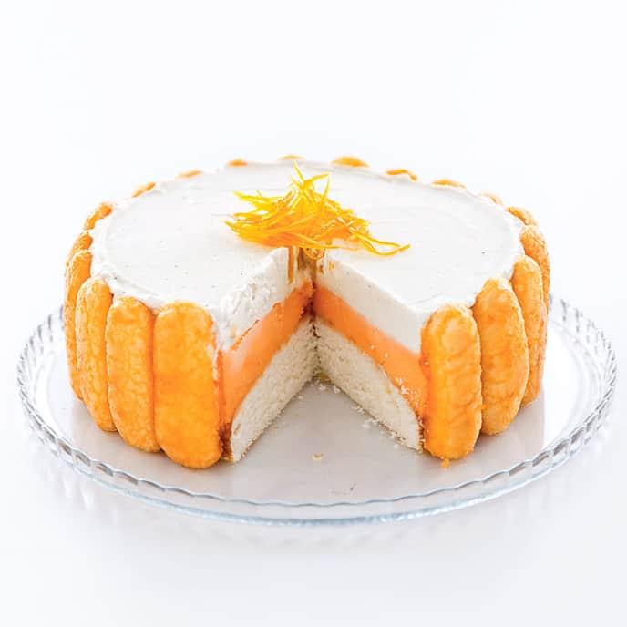 Orange Creamsicle Ice Cream Cake