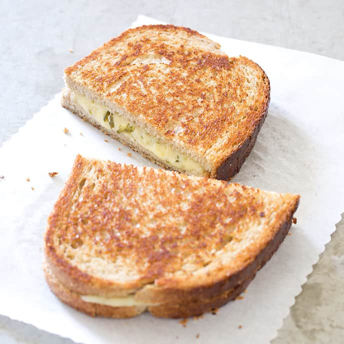 Grown-Up Grilled Cheese Sandwiches with Robiola and Chipotle
