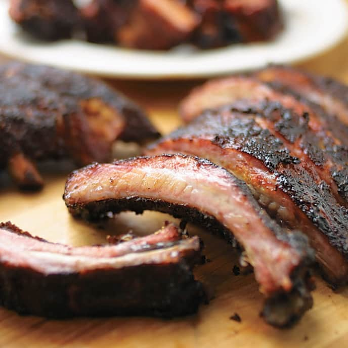 Barbecued Baby Back Ribs for Gas Grill