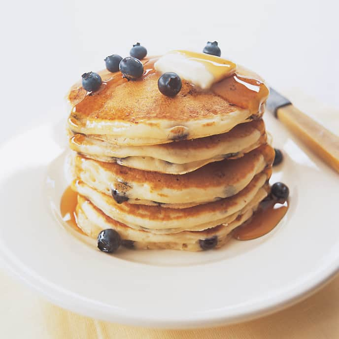 Lemon-Cornmeal Blueberry Pancakes