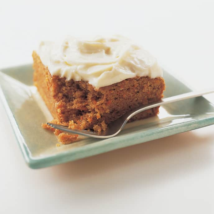 Spiced Carrot Cake with Vanilla Bean-Cream Cheese Frosting