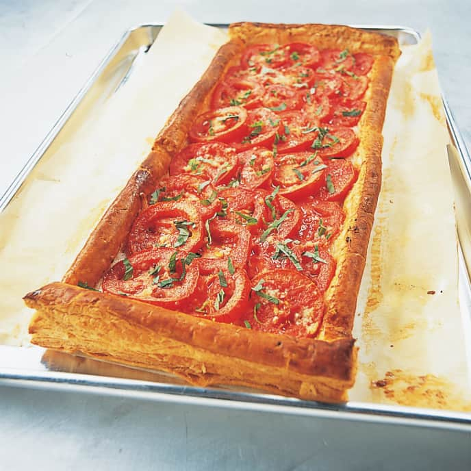 Tomato and Mozzarella Tart with Prosciutto