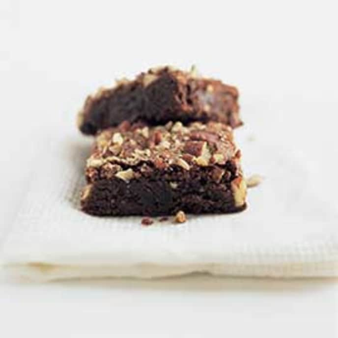 Classic Brownies with Coconut-Pecan Topping