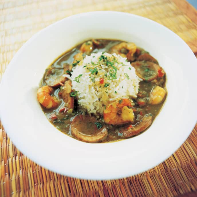 Shrimp and Sausage Gumbo with Filé