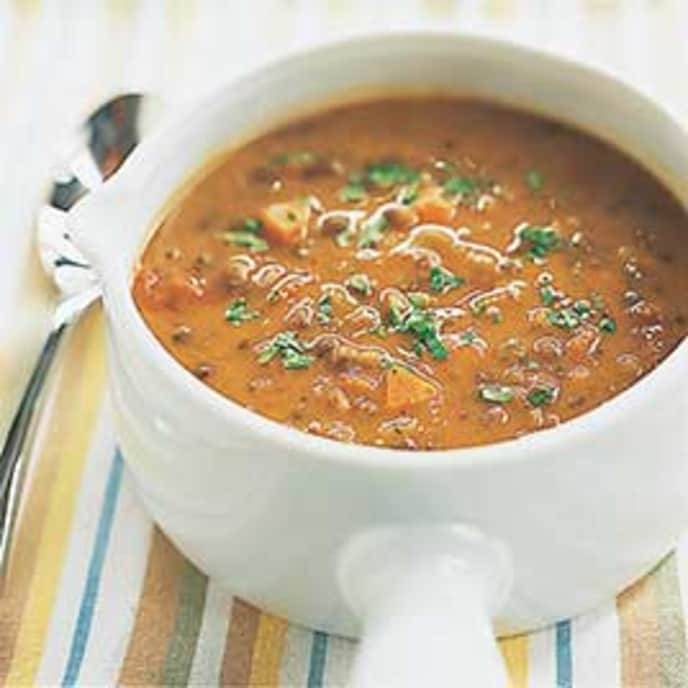 Hearty Lentil Soup with Fragrant Spices
